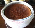 Baked butter cake