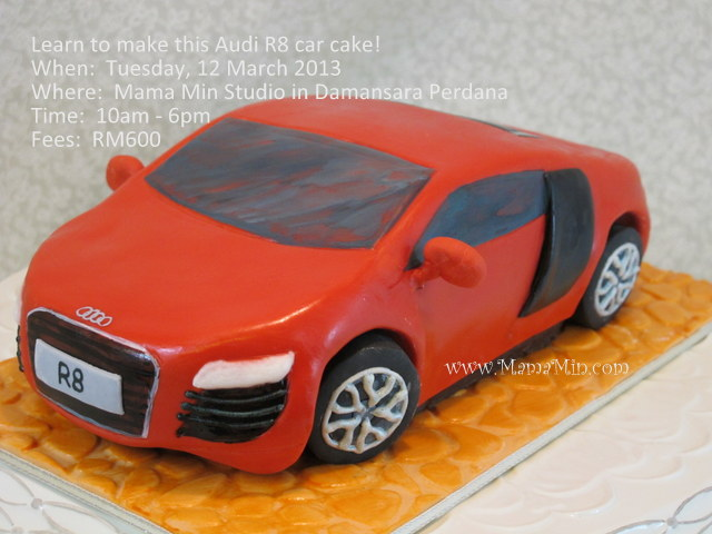Carved cake class:  Audi R8